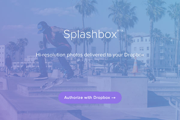Splashbox brings Dropbox sync + Unsplash